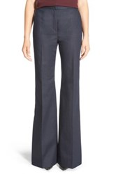 Halogen High Waist Denim Flare Leg Trousers Regular And Petite Blue
