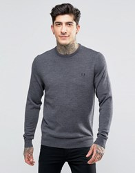 Fred Perry Jumper With Crew Neck In Graphite Marl Graph Ml Grey