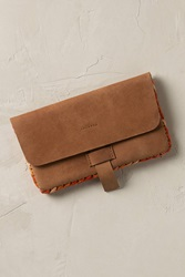 Anthropologie Sable Mini Leather Pouch Brown