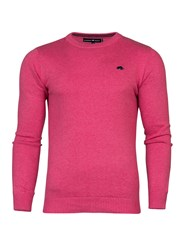 Raging Bull Crew Neck Cotton Cashmere Sweater Pink