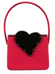 Yves Saint Laurent Vintage Heart Motif Evening Bag Red