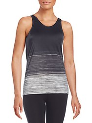 Norma Kamali Racerback Tank Top Ombre Water