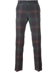 Etro Plaid Trousers Multicolour