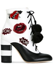 Gedebe 'Caroline' Ankle Boots White