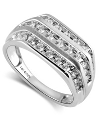 Macy's Men's 14K White Gold Diamond Band Ring 1 Ct. T.W.
