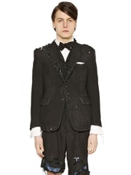 Thom Browne Destroyed Wool And Mohair Jacket