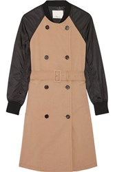3.1 Phillip Lim Cotton Gabardine And Shell Trench Coat Sand