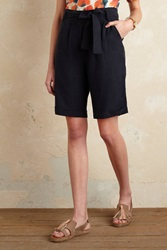 Anthropologie Payton Paperbag Shorts Navy