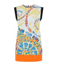 Emilio Pucci Mosaic Sleeveless Silk Top Female