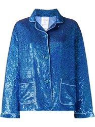 Ashish Sequin Pyjama Shirt Blue