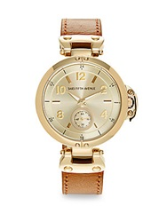 Saks Fifth Avenue Goldtone Finished Stainless Steel Strap Watch