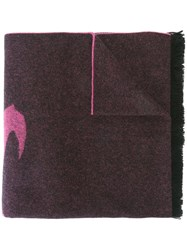 Mcq By Alexander Mcqueen 'Swallow Swarm' Scarf Pink And Purple