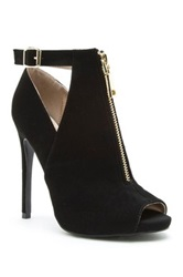 Qupid Cutout High Heel Pump Black