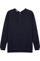 Miu Miu Split Back Bow Embellished Wool Sweater