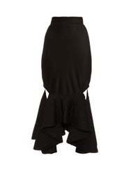 Givenchy Technical Pleated Jersey Skirt Black