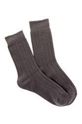 Shimera Cozy Rib Crew Socks Gray