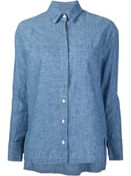 Frame Denim 'Le Oversized' Shirt Blue