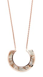 Pamela Love Enclosure Pendant Necklace Rose Gold