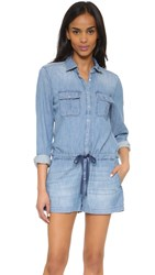 Blank Denim Romper Netflix And Chill