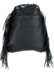 Givenchy Drawstring Fringed Backpack Black