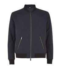 Hardy Amies Tailored Nylon Bomber Jacket Male Navy
