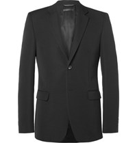 Calvin Klein Collection Black Bowery Slim Fit Wool Faille Blazer Black