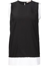 Emilio Pucci Sleeveless Polo Neck Top Black