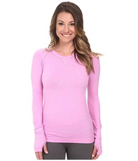 Zensah Run Seamless Long Sleeve Shirt Heather Pink Women's Workout