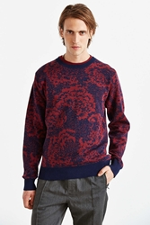Obey Cranford Floral Sweater Navy