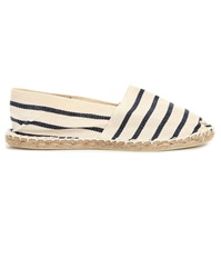 Armor Lux White And Blue Striped Espadrilles