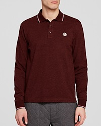 Moncler Maglia Long Sleeve Polo Regular Fit Burgandy