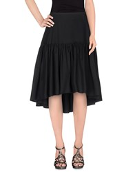 Rose Skirts 3 4 Length Skirts Women Dark Blue
