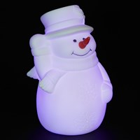 John Lewis Morphing White Snowman With Top Hat Light