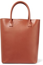 Mother Of Pearl Pentley Leather Tote Brown