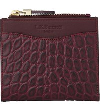 Lk Bennett Kira Crocodile Embossed Leather Purse Red Merlot