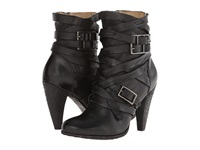 Frye Mikaela Strappy Black Smooth Vintage Leather Cowboy Boots