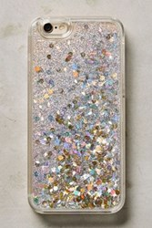 Anthropologie Floating Glitter Iphone 6 And 6 Plus Case Silver