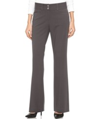 Alfani Two Button Curvy Fit Pants Only At Macy's Charcoal