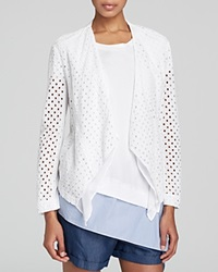 Dkny Drape Front Eyelet Jacket Bloomingdale's Exclusive White