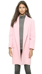 Nicholas Felted Wool Full Length Coat Baby Pink