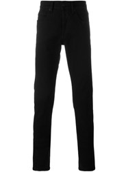 Off White Brushed Slim Fit Jeans Black
