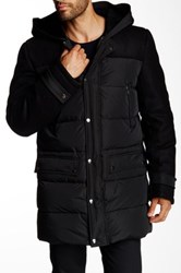 Mackage Fritz Genuine Sheepskin Fur And Leather Quilted Jacket Black