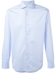 Eleventy Classic Button Down Shirt Blue