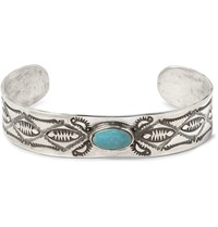 Peyote Bird Joe Eby Sterling Silver Turquoise Cuff