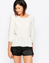 Vero Moda Peplum Top White