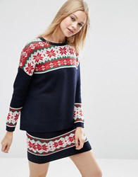 Asos Co Ord Fairisle Christmas Jumper Multi