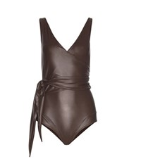 Lisa Marie Fernandez Dree Louise Gloss Swimsuit Brown