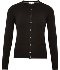 Austin Reed Black Grosgrain Trim Cardigan