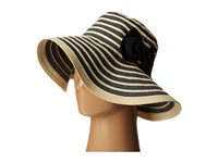 San Diego Hat Company Rbm5556 Washed Paper Braid And Ribbon Sunbrim Hat Black Caps