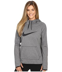 Nike Therma Pullover Training Hoodie Black Heather Black Black Women's Clothing Gray